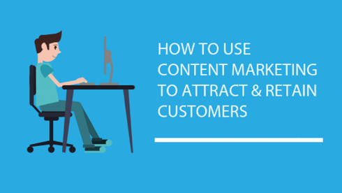 Image: Blog Title Graphic How To Use Content Marketing to Attract and Retain Customers