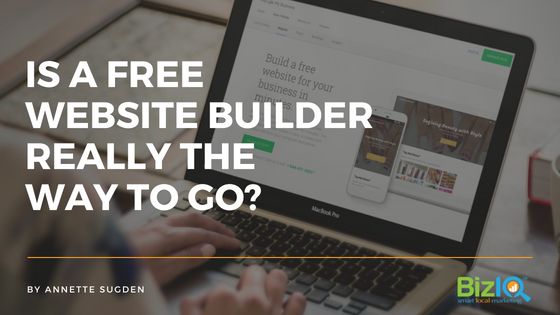 is a free website builder really the way to go
