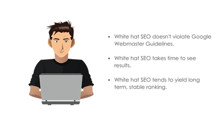 Image: What is white hat SEO Bullet Point Title Graphic