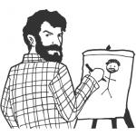 artist painting self portrait