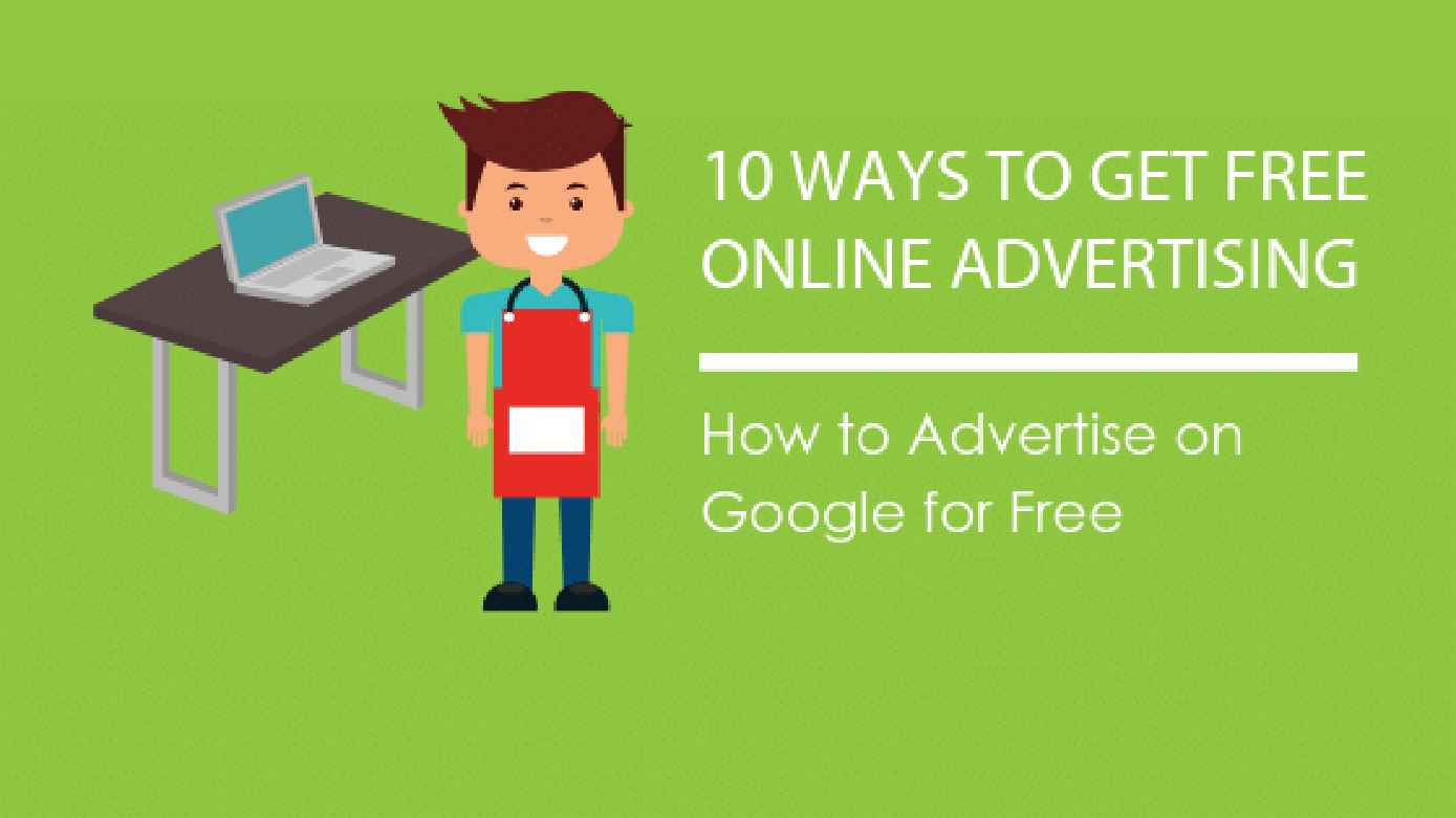 Image: Blog Title Graphic: 10 Ways to Get Free Online Advertising