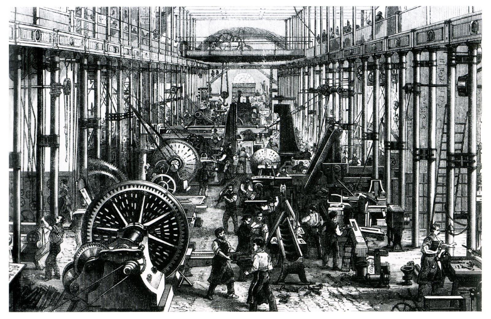illustration of an 1800s factory