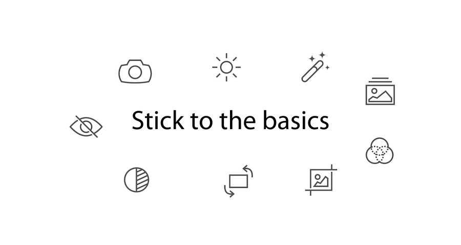 Image: sub header title text Stick to the basics