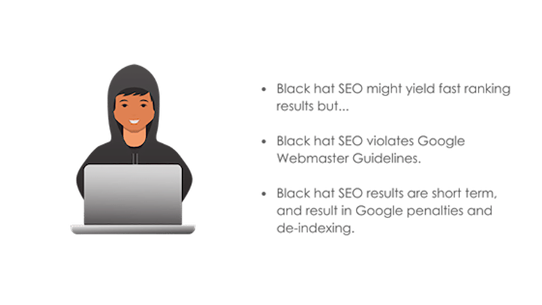 Image: What is black hat SEO bullet point title graphic
