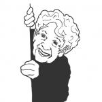 illustration of grandmother