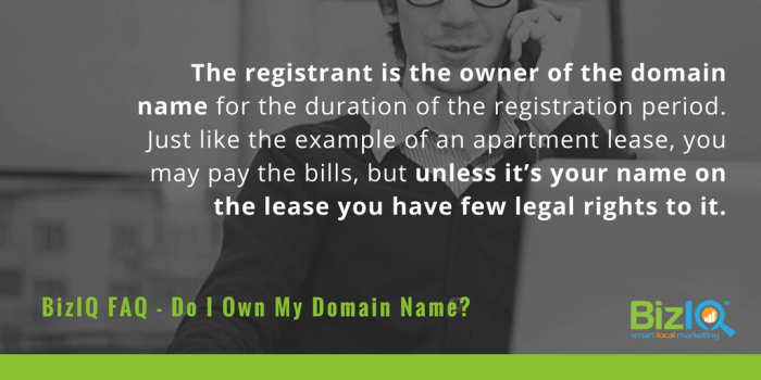 The registrant owns the domain name