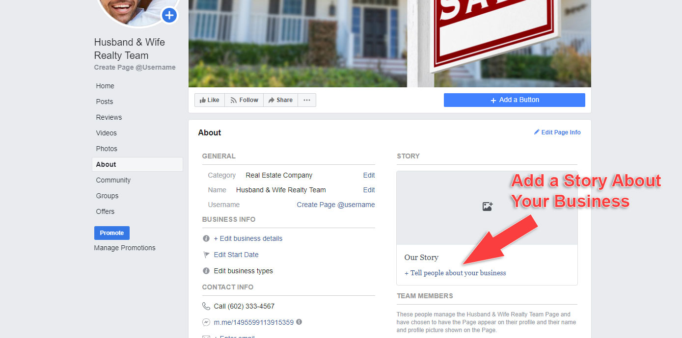 How to Make a Business Page on Facebook - Create Story