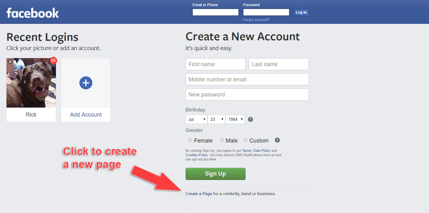 How to Make a Business Page on Facebook - Create Page