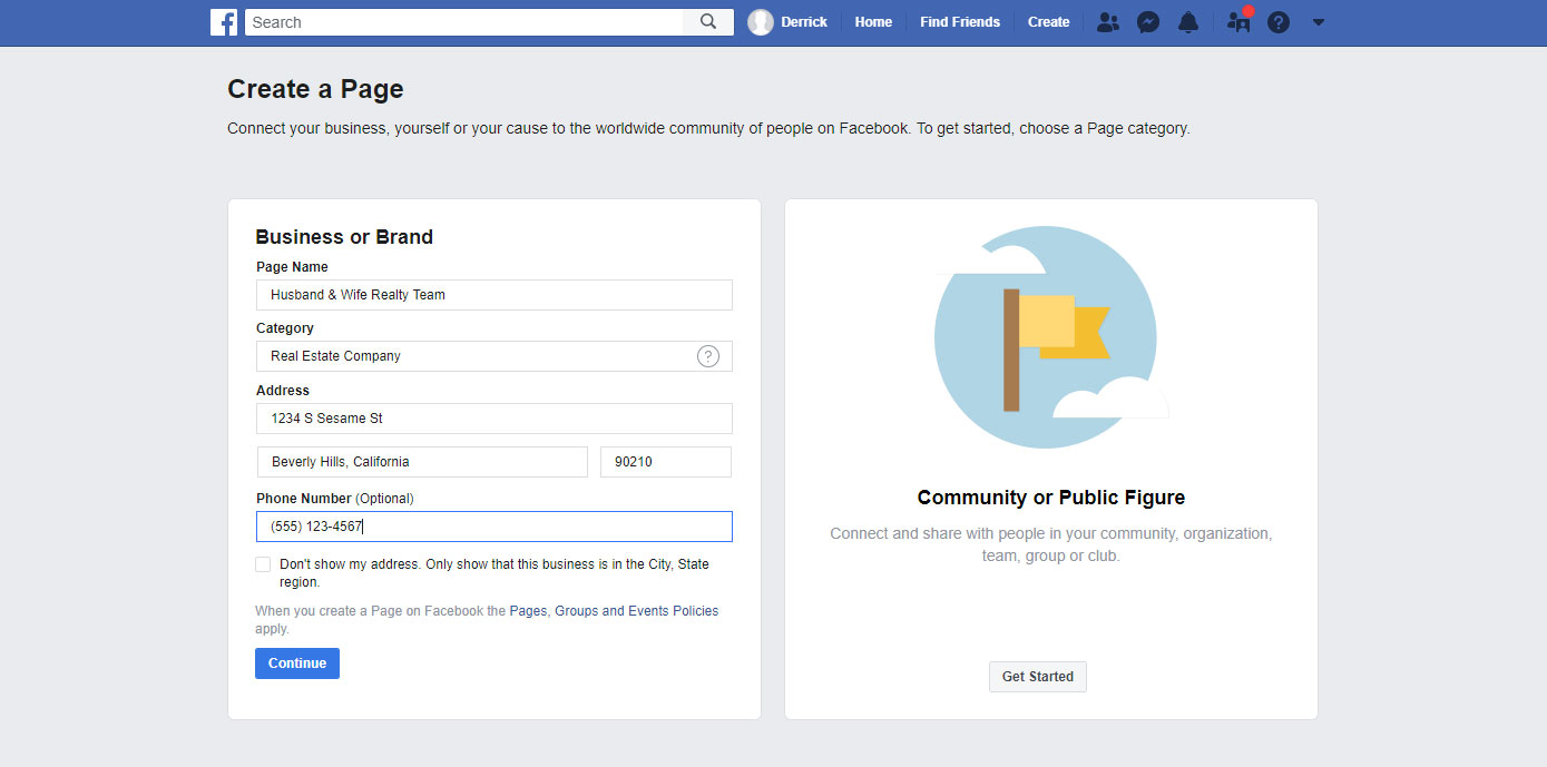 How to Make a Business Page on Facebook - Complete NAP Info