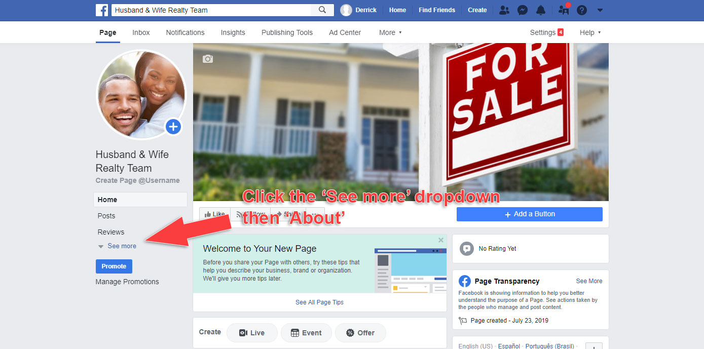 How to Make a Business Page on Facebook - Add Short Description