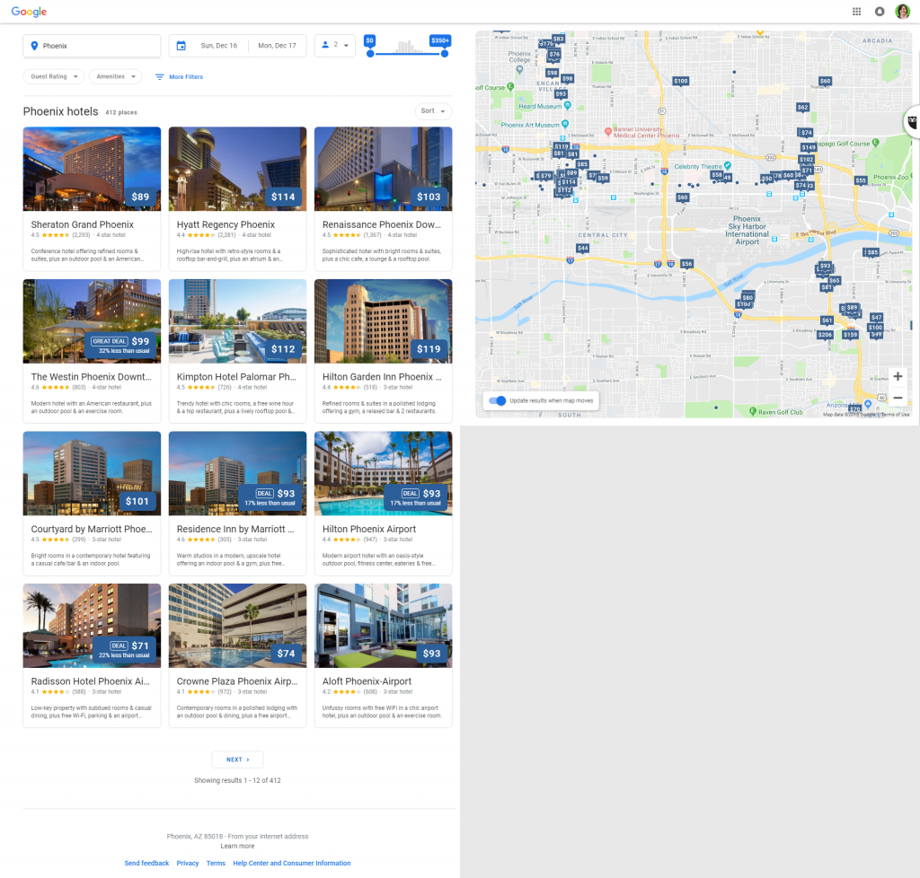 Screenshot 2 New Local Hotel Results