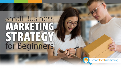 Blog title graphic Small Business Marketing Strategy For Beginners