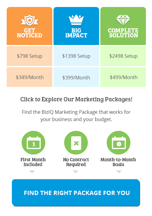 click to explore marketing packages and pricing