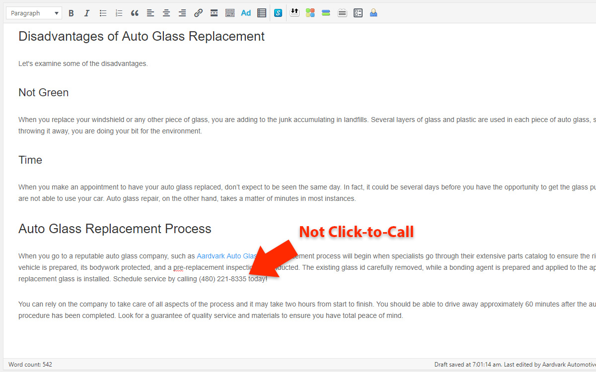 How to Make a Phone Number Clickable in WordPress - Not Click-to-Call
