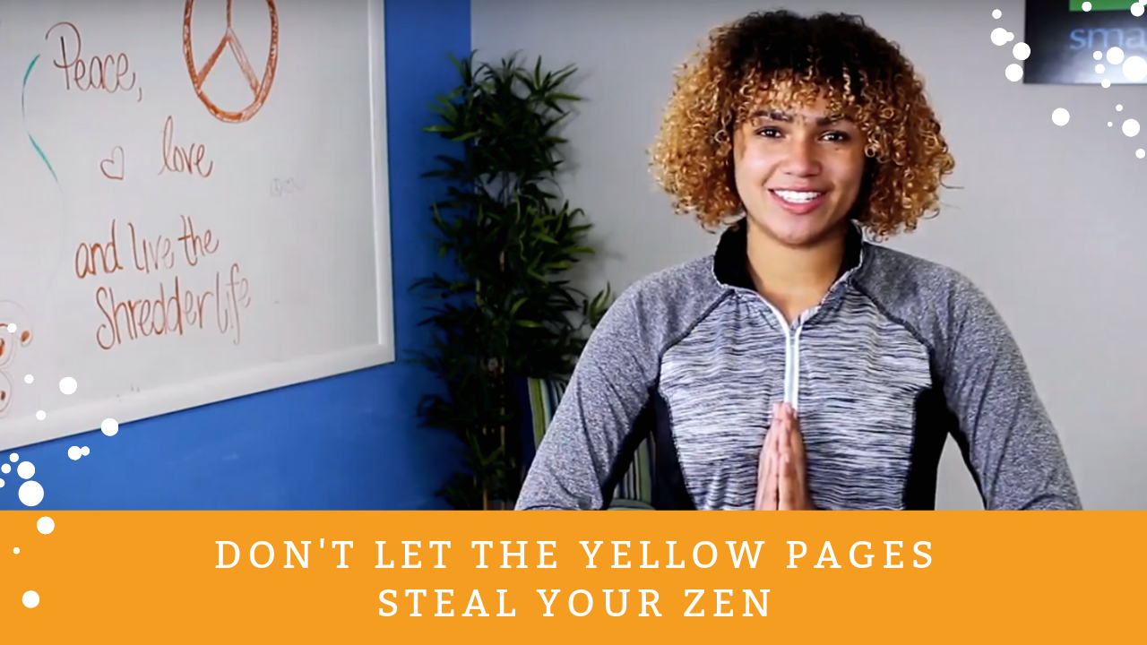 don't let the yellow pages steal your zen