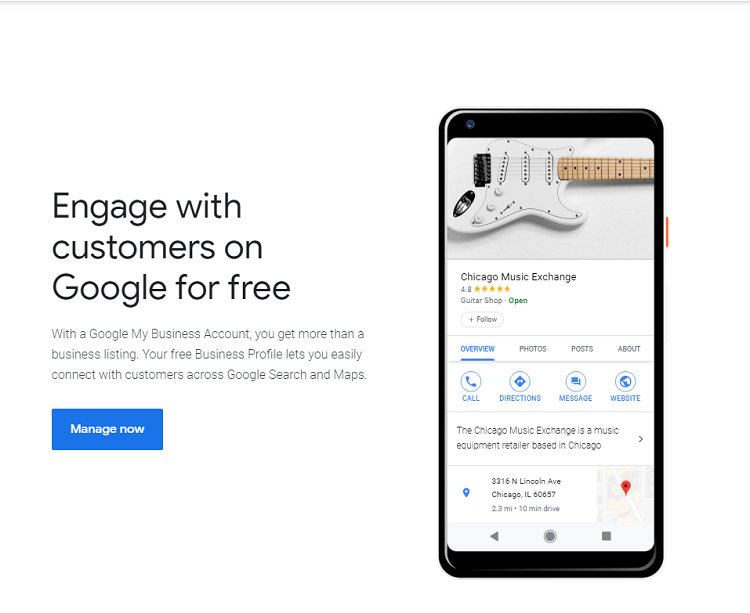 Image: Google My Business Signup page title text