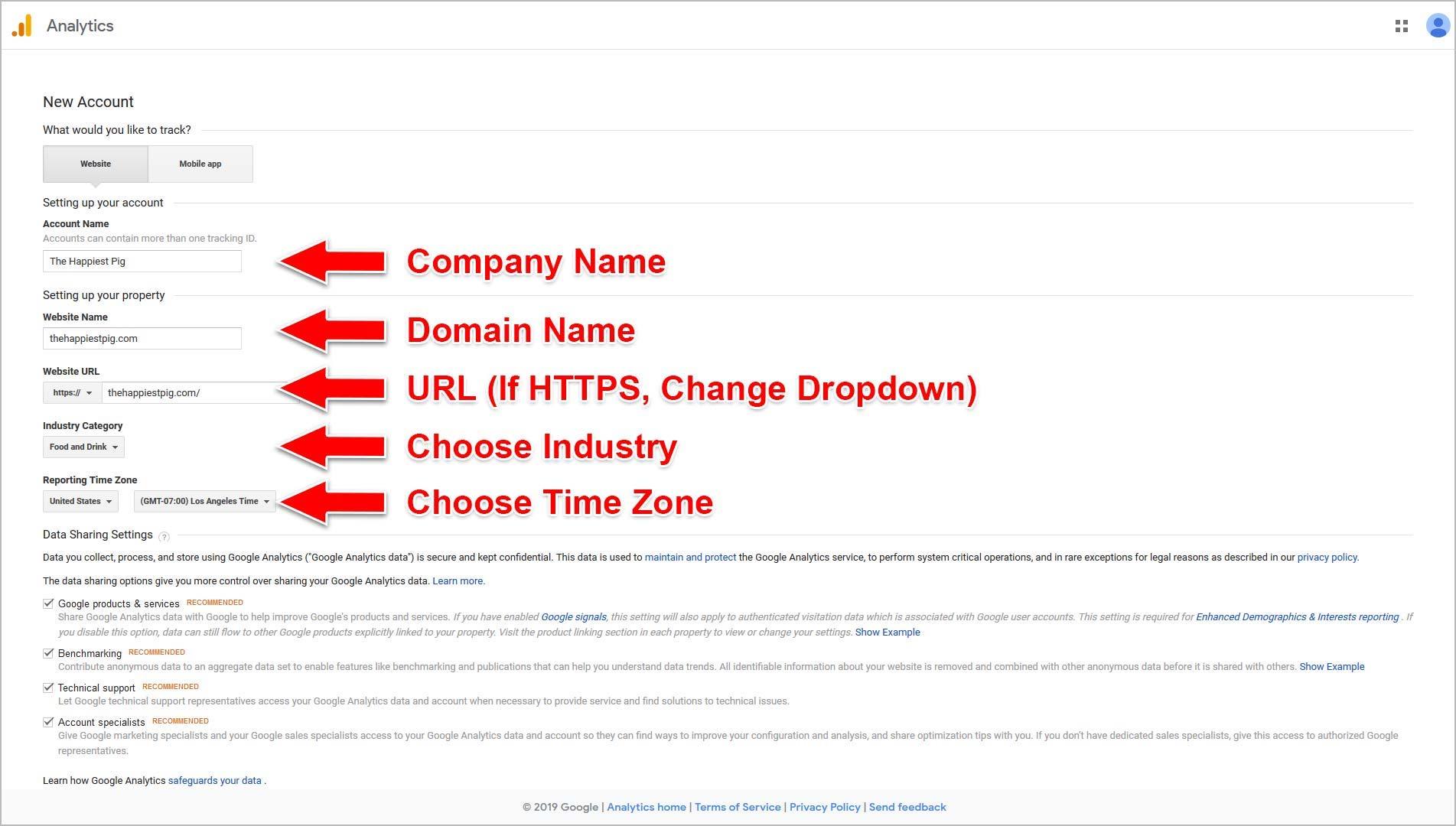 Enter Your Website Details