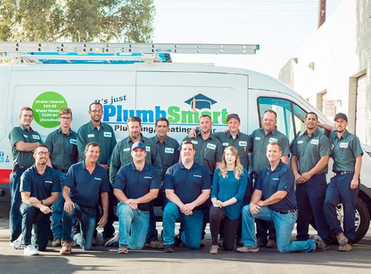 plumbsmart crew and van